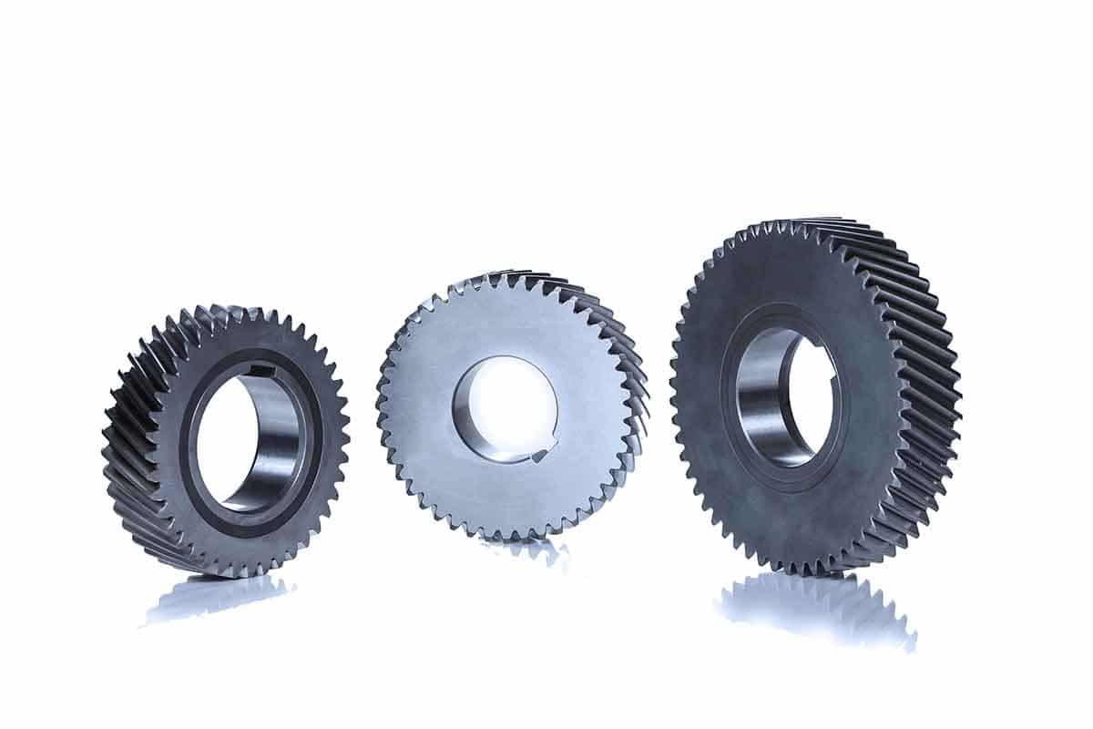 Helical gears for rotary compressor